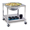 """Lakeside 713 - Mobile Stainless Steel Bowl Stand, 33-1/4""""W"""