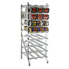 "Lakeside 331 - Aluminum Can Storage Rack, Full Height, 35""W"