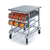"Lakeside 336 - Aluminum Can Storage Rack, Work Top Height, 35""W"