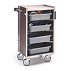 """Lakeside 890 - Enclosed Stainless Steel/Vinyl Bussing Cart, 27-3/4""""W"""
