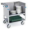 "Lakeside 405 - Stainless Steel Store and Carry Dish Cart, 31""W"