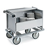 """Lakeside 707 - Stainless Steel Store and Carry Dish Cart, 39-1/2""""W"""