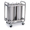 "Lakeside 774 - Plate Dispenser Cart, 35""W, 2 Stacks"