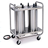 "Lakeside 7212 - Plate Dispenser Cart, 35""W, 2 Stacks"