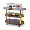 "Geneva 36303 - Rounded Oval Top Laminate Dessert Cart, 44""W"