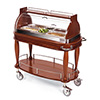 "Geneva 70160 - Oval Top Appetizer Cart, Cooling, 43-3/8""W"