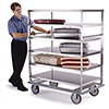 "Lakeside 595 - Stainless Steel Queen Mary Banquet Cart, 75""W"
