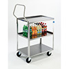 "Lakeside 4411 - Medium Duty Stainless Steel Handler Cart, 27-5/8""W"
