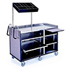 Lakeside 680-10 - Mobile Merchandising Kiosk, Stainless Steel/Laminate