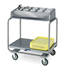 "Lakeside 213 - Tray and Flatware Cart, Stainless Steel, 34-3/4""W"