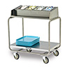 "Lakeside 214 - Tray and Flatware Cart, Stainless Steel, 34-3/4""W"