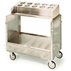 "Lakeside 403 - Tray and Flatware Cart, Stainless Steel, 36-1/4""W"