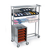 "Lakeside 2610 - Mobile Set-Up Station for Trays, Stainless Steel, 52""W"