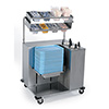 "Lakeside 2620 - Mobile Set-Up Station for Trays, Stainless Steel, 39""W"