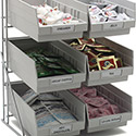 "Carlisle 381206LG Wire Packet Rack, comes with 6 each 4 qt Containers 14"", 12"", 18"""
