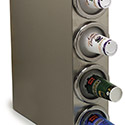 "Carlisle 38884G 4 Cup Dispenser, Square Cabinet Model 25"", 7"", 29-1/8"" - Stainless Steel"
