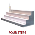 "LED Baseline 48"" 4 Tier LED Lighted Liquor Display Shelf - Black Finish"
