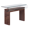 Zuo Modern 404064 Mystic Console Table, Walnut