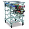 "Kitchen Can Rack - Heavy Duty 41""H, with Casters"