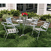 Outdoor Aluminum Set, 4 Arm Chairs and 1 Table
