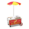 "Hot Dog Mini Cart - 12""Wx13""Dx15""H"