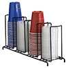 Wire Cup Dispenser and Lid Dispenser Up to 44 oz., 4 Sections