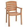 Grosfillex 46119008 Acadia Outdoor Armchair - Resin Stack Chair