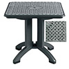 "Toledo Outdoor Dining Folding Table, 32"" Square"