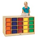 Jonti-Craft 4425JC Double-Sided Island 40 Cubbie-Tray - with Colored Trays