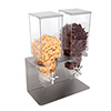 Service Ideas 81700620 - Quardo Cereal Dispenser Double Container, 3L Each