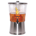 Service Ideas CBDRT5SS - Beverage Dispenser, 5 Gal. With S/S Infuser