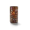 Hollowick 46318A Amber Pebble Tall Glass Cylinder