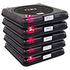Five Coaster Pagers for Rechargeable Guest Paging System 466-006