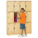 Jonti-Craft 4697TK Stacking Lockable Lockers - Triple Stack - ThriftyKYDZ