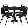 Value Series 47K-327 Taper Back Chair and Table Set Combo Deal, Black Laminate Table