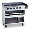 "Commercial Griddle - Cheesemelter Combo with Stand 52""W, 7 Controls"