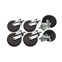 Set of 6 Casters for Commercial Griddles 490-035 and 490-040