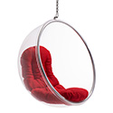 Zuo Modern 501150 Bolo Suspended Chair, Red