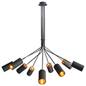 Zuo Modern 50214 Ambition Ceiling Lamp, Black