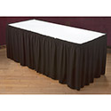 Carlisle 5024CE29AF014 Trufinish Classic Twill Skirting - Shirred Pleat w/Velcro Header and 24 550PC Clips 13'