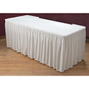 Marko 5024FW29AF010 Trufinish Classic Twill Shirred Pleat Skirting w/Velcro Header & 38 550PC Clips 21' - White