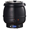 """Commercial Soup and Food Warmer, 13-1/10""""Diam.x14-1/5""""H, 10-1/2 Qt. Capacity"""