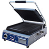"Panini Grill - Cast Iron 14""Wx14""D Grooved Cooking Surface"