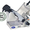 Electric Food Slicer - Heavy Duty Stainless Steel, Manual Operation