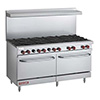 Vulcan Commercial Gas Range - 10 Burners - 2 Ovens - V60