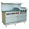 Vulcan Gas Range - 6 Burner - 2 Standard Ovens - Raised Griddle - V260