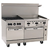 "New Endurance Gas Range - 60""W, 4 Burners, 2 Standard Width Ovens, 36"" Thermostatic Griddle"