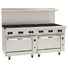 "New Endurance Gas Range - 60""W, 4 Burners, 1 Standard, 1 Convection Oven, 36"" Thermostatic Griddle"