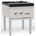 "Commercial Gas Range - Heavy Duty Stock Pot Range, 18""W"