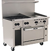 "New Endurance Gas Range - 48""W, 4 Burners, 1 Convection Oven, 24"" Manual Griddle"